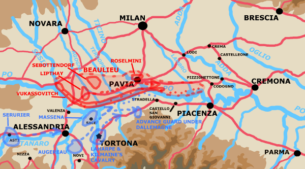 A map showing the situation on May 5th.