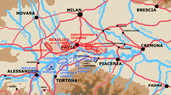 A map showing the situation on May 6th.