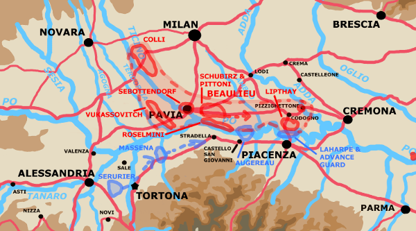 A map showing the situation on Morning of May 8th.