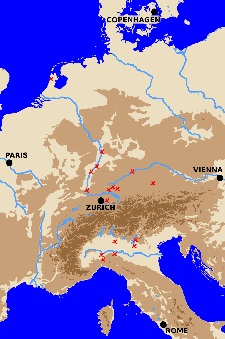 A map showing battles in Central Europe from 1797 to 1800.